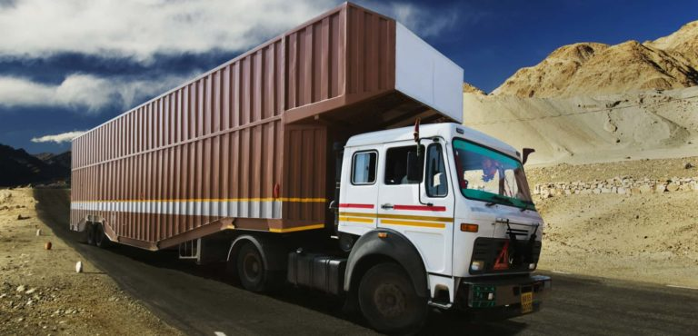 truck on the road - commercial truck leasing costs